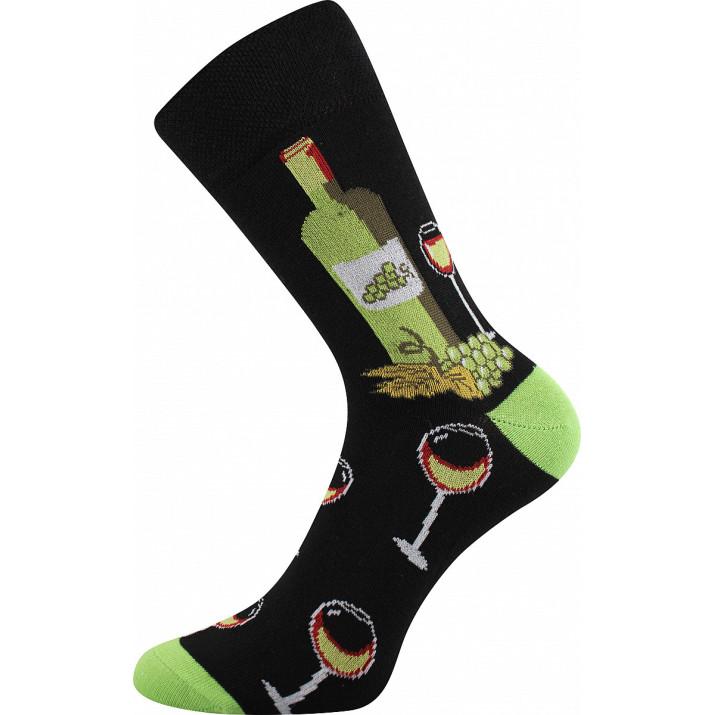 Barevné ponožky Vínoxx bíle