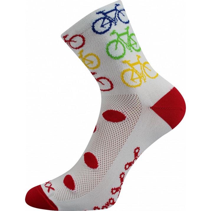 Ponožky Ralfi bike/bílá
