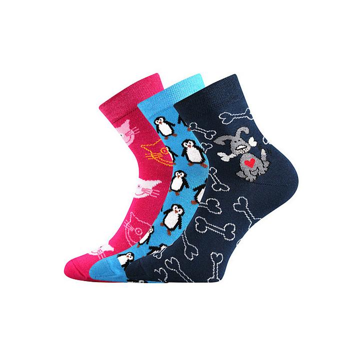 Ponožky Pruhana mix A 3 páry