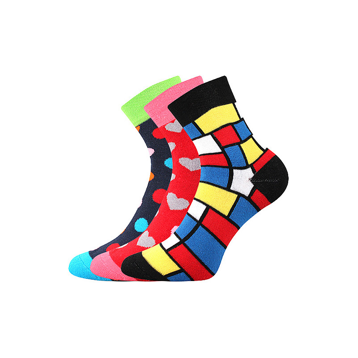 Ponožky Pruhana mix C 3 páry