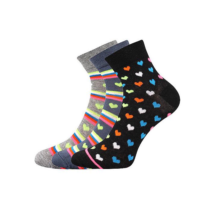barevné ponožky Jana X 3 páry