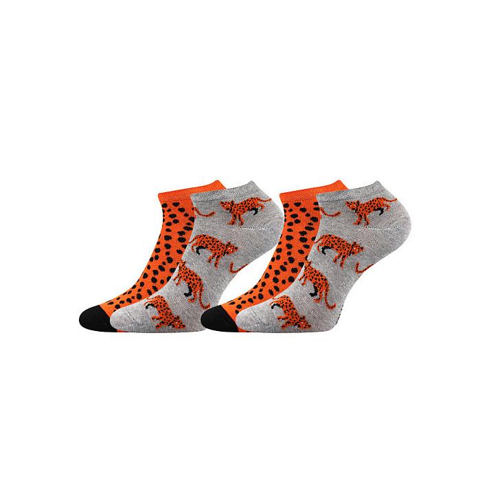 Barevné ponožky Duo levhart...