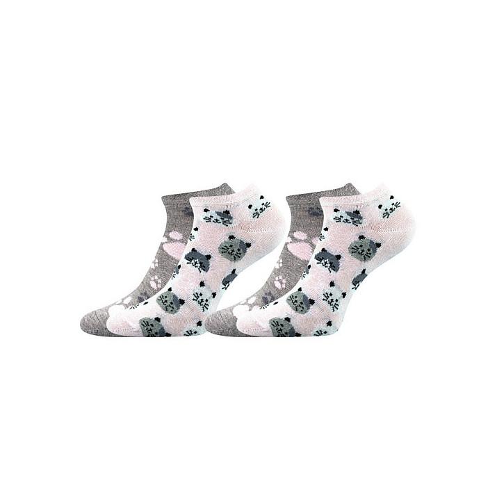 Barevné ponožky Duo kočička...