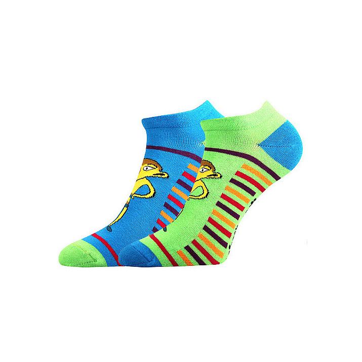 Barevné kotníkové ponožky...