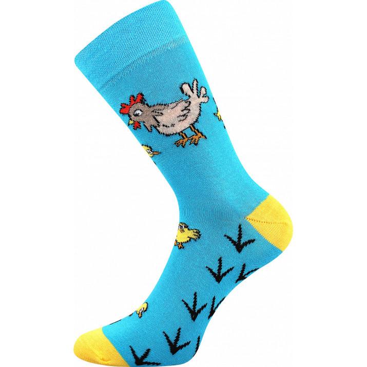 Barevné ponožky slepičky a...