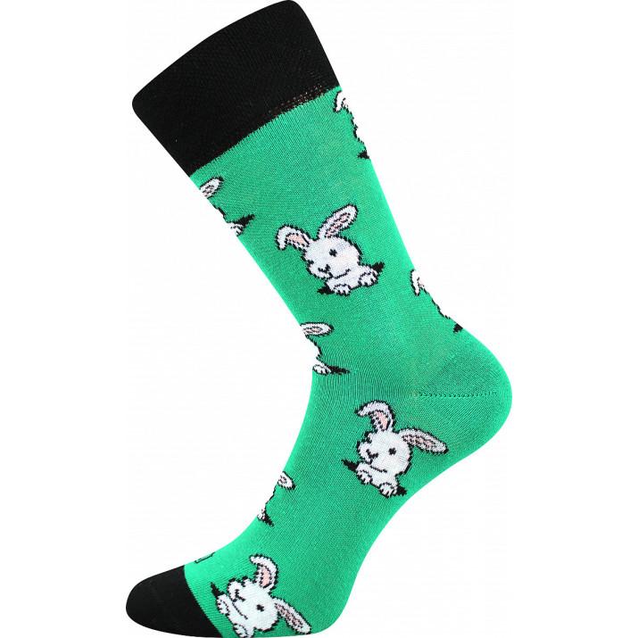 Barevné ponožky zajíčci
