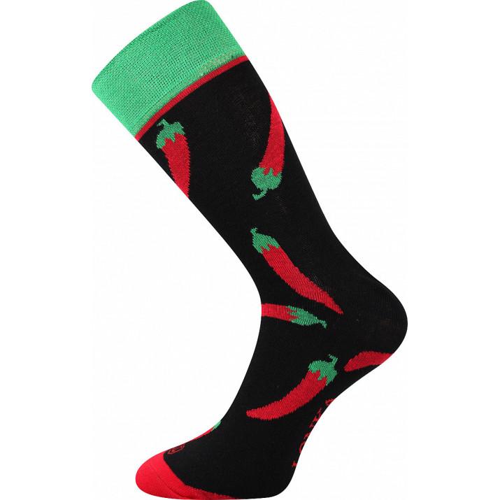Barevné ponožky chilli