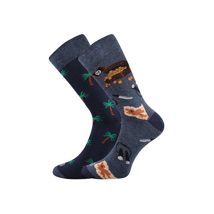 Barevné ponožky piráti