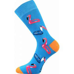 Barevné ponožky plameňák