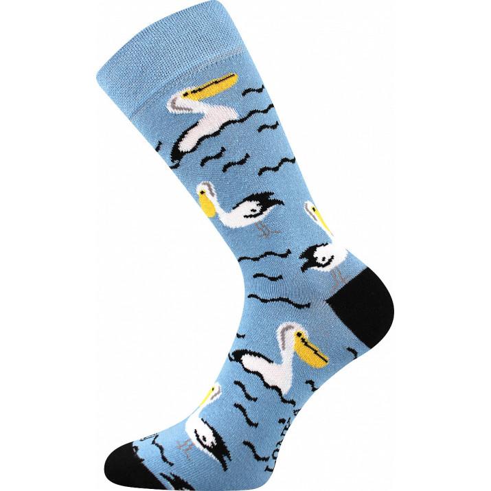 Barevné ponožky pelikán