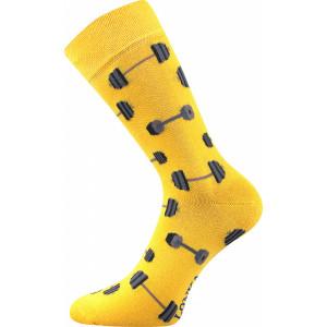 Barevné ponožky činky