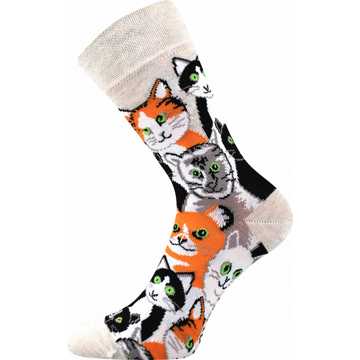 Barevné ponožky kočky