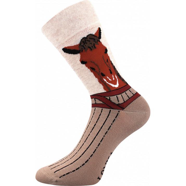 Barevné ponožky kůň