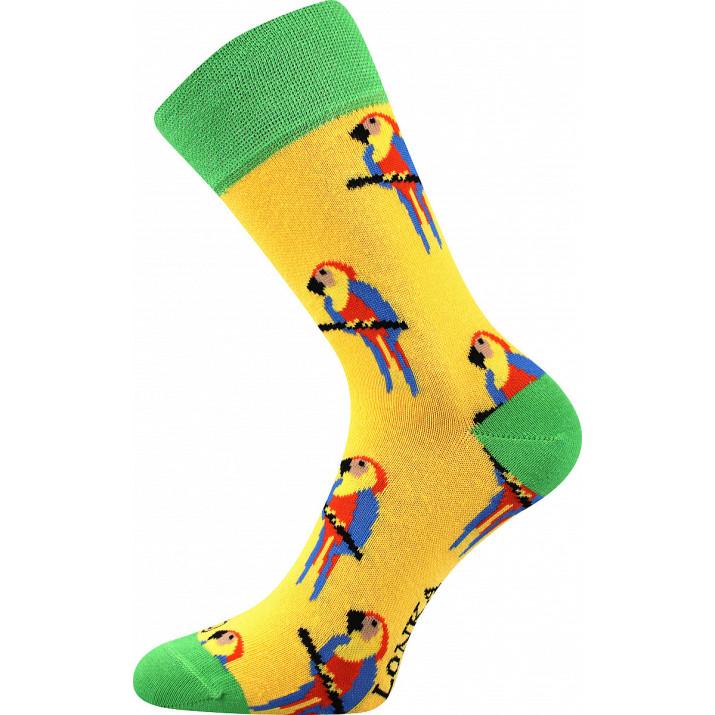 Barevné ponožky papoušek