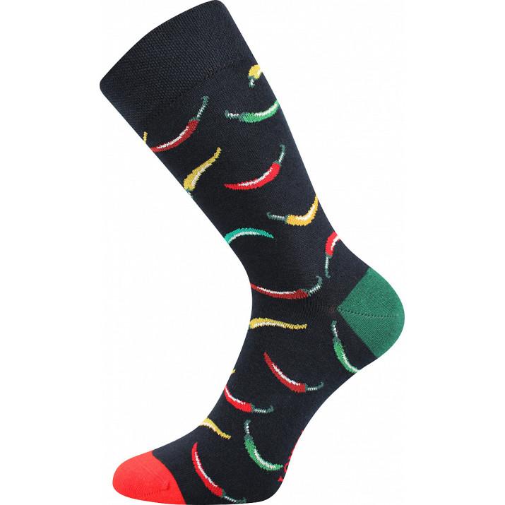 Barevné ponožky papričky