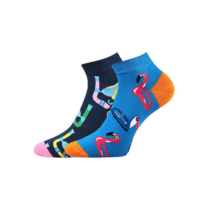 Barevné ponožky plameňák...