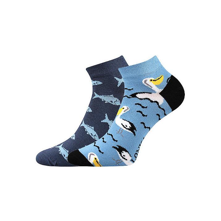 Barevné ponožky pelikán kotník