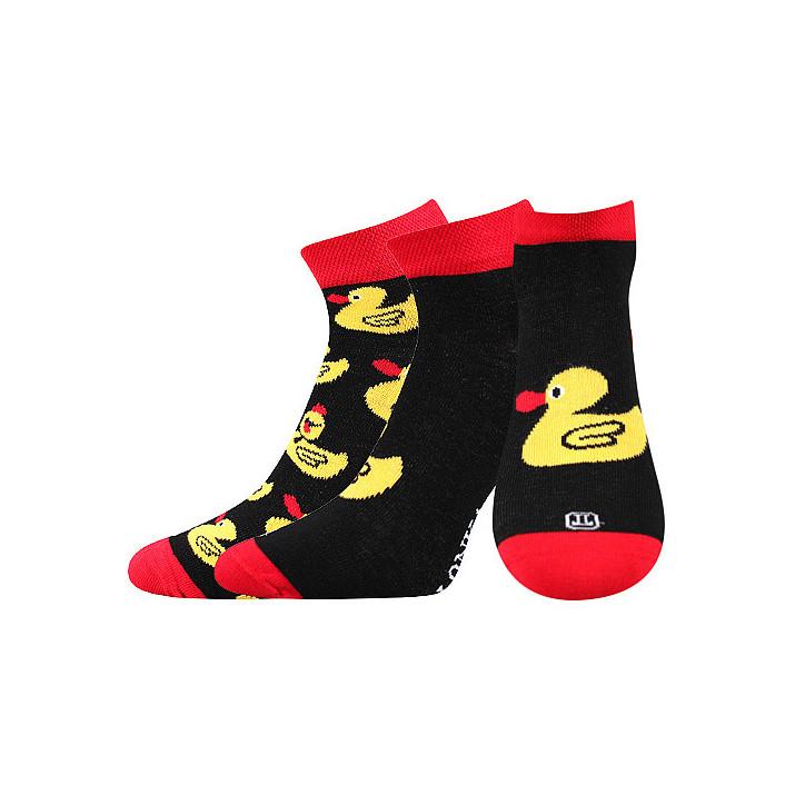 Barevné ponožky kačenky kotník