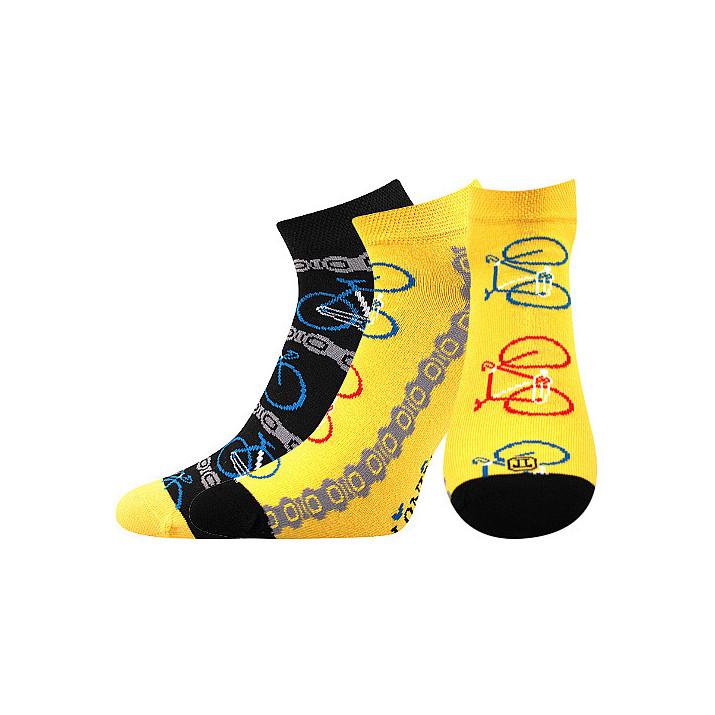 Barevné ponožky kola kotník