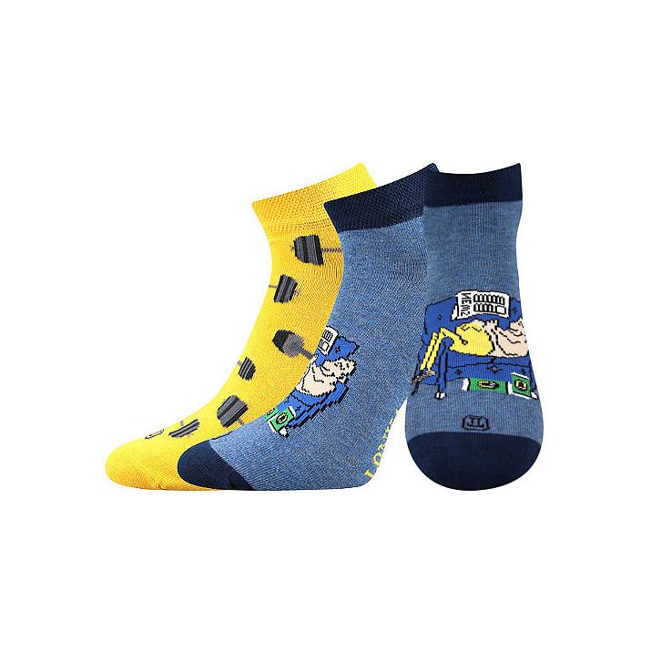 Barevné ponožky činky kotník