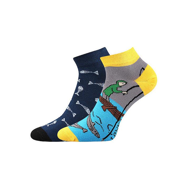 Barevné ponožky rybář kotník