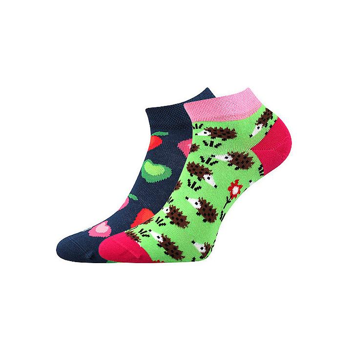 Barevné ponožky ježek kotník