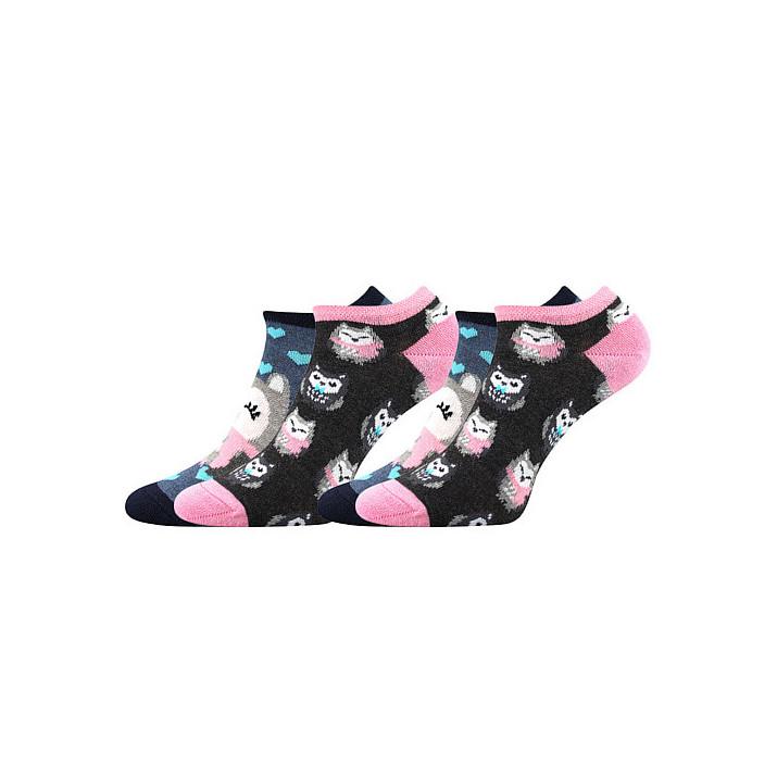 Barevné ponožky Duo Sovy 2...