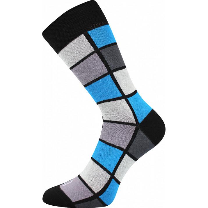 Barevné ponožky kostky modré