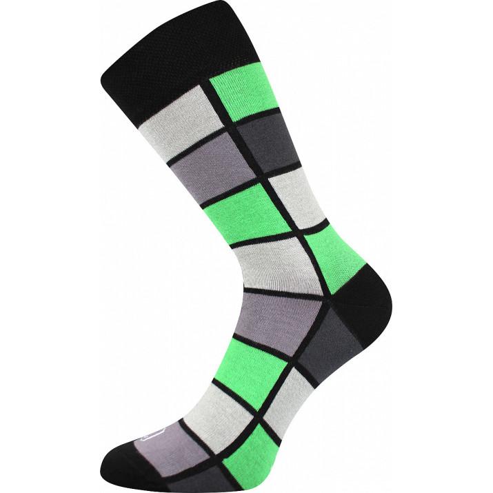 Barevné ponožky kostky zelené