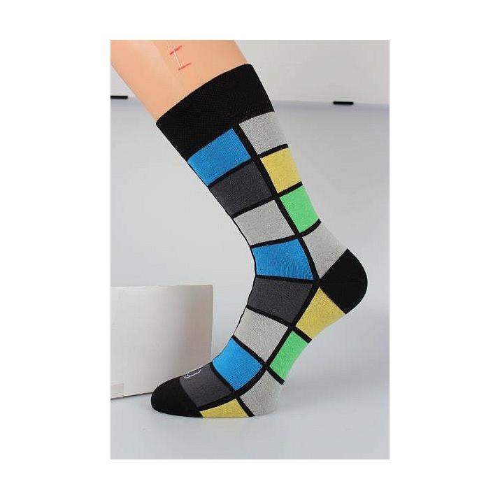 Barevné ponožky kostky modrá