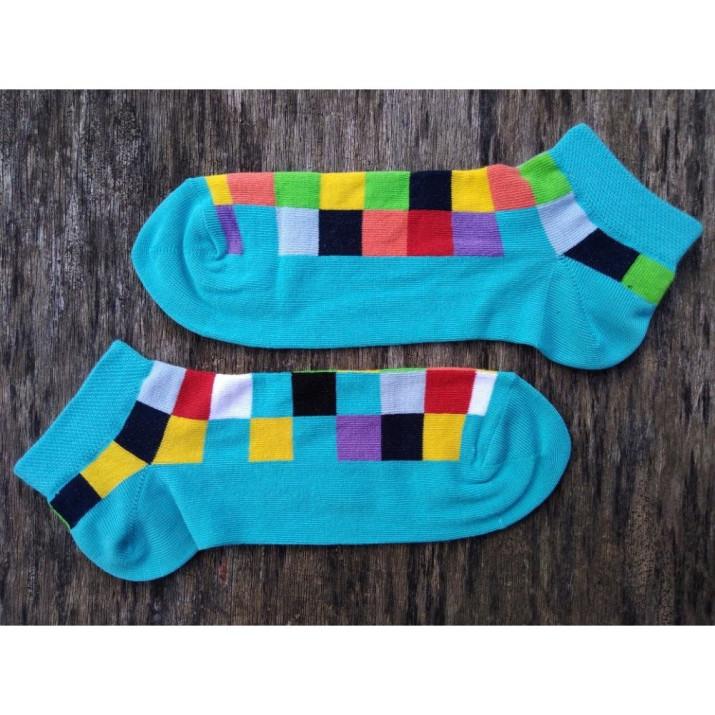 Barevné ponožky kotníkové...