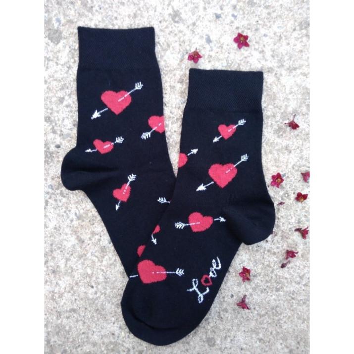 Barevné ponožky Love 1 pár
