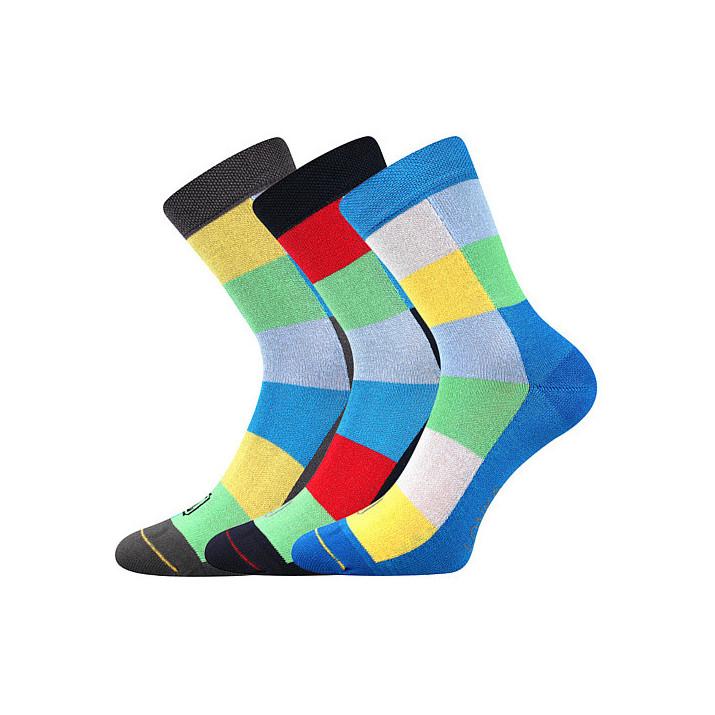 Ponožky Bamcubík kluk 3 páry