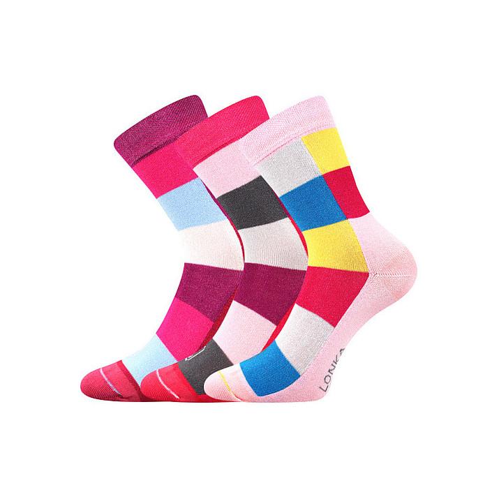 Ponožky Bamcubík holka 3 páry
