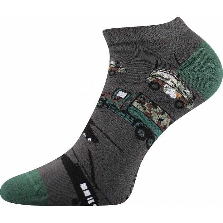 Barevné ponožky army kotník
