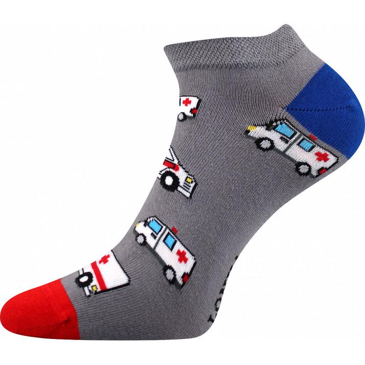 Barevné ponožky sanitka kotník