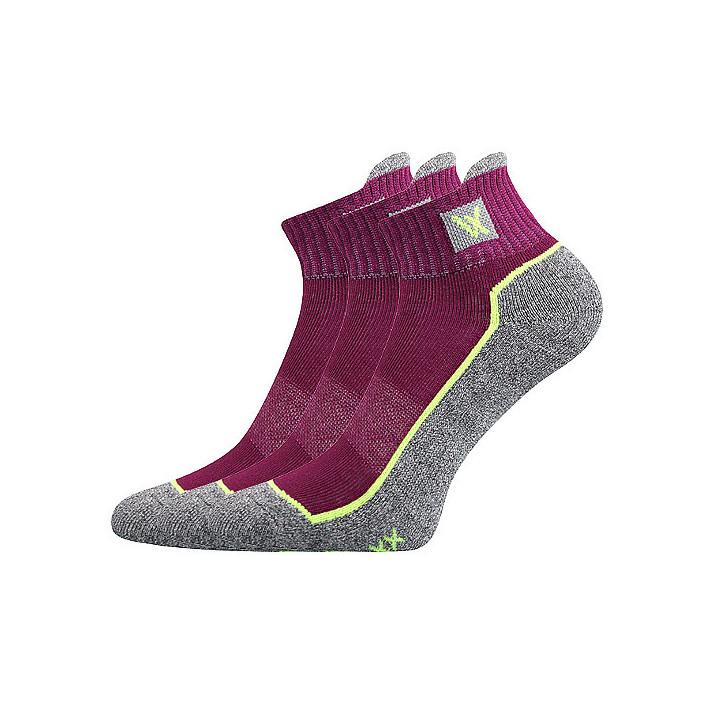 Ponožky Nesty fuxia 3 páry