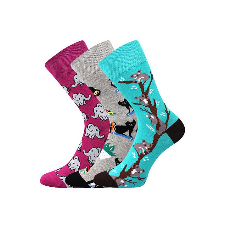 Barevné ponožky Woodoo mix E1