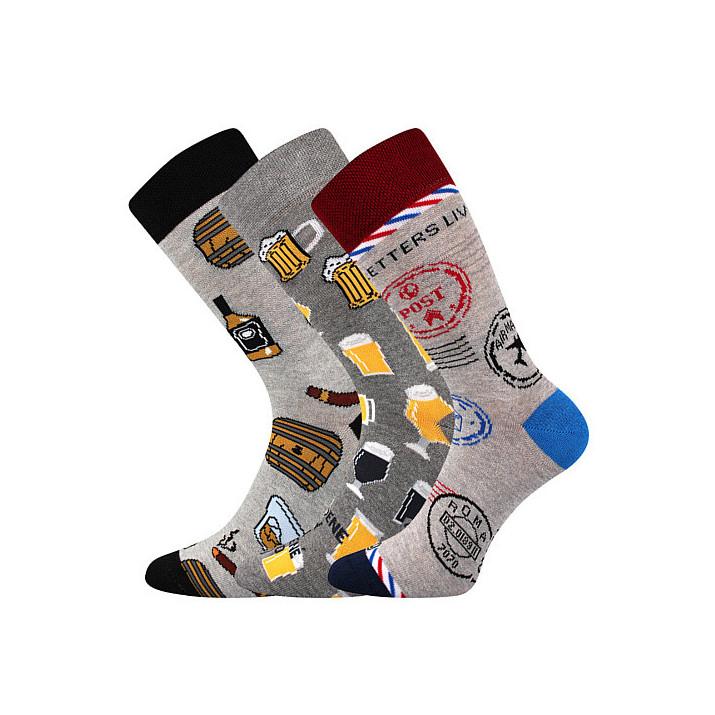 Barevné ponožky Woodoo mix A1