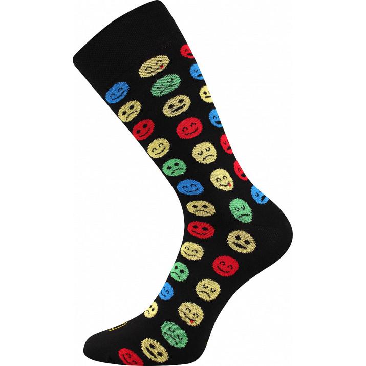 Barevné ponožky crazy smajlíci