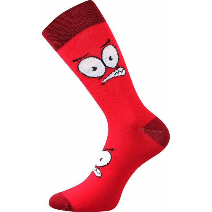 Barevné ponožky oči červená