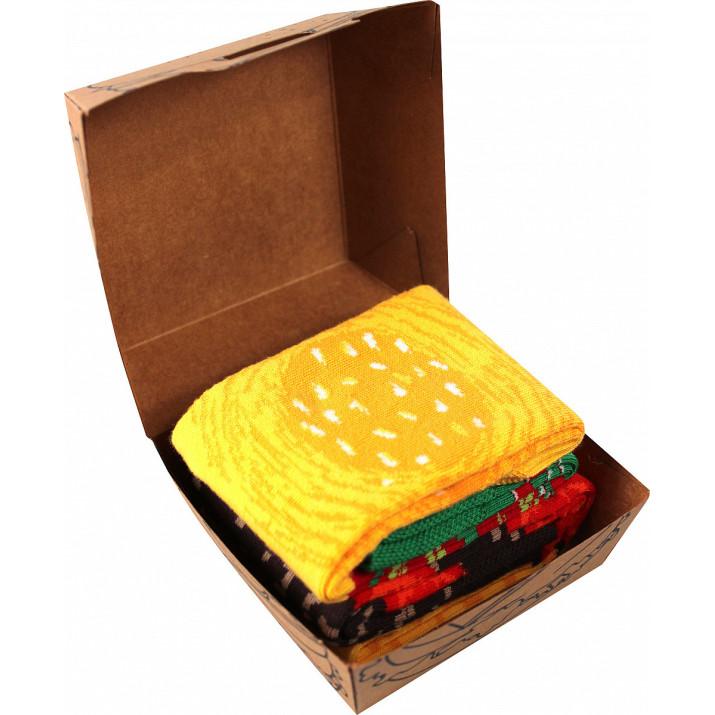Barevné ponožky hamburger 2...