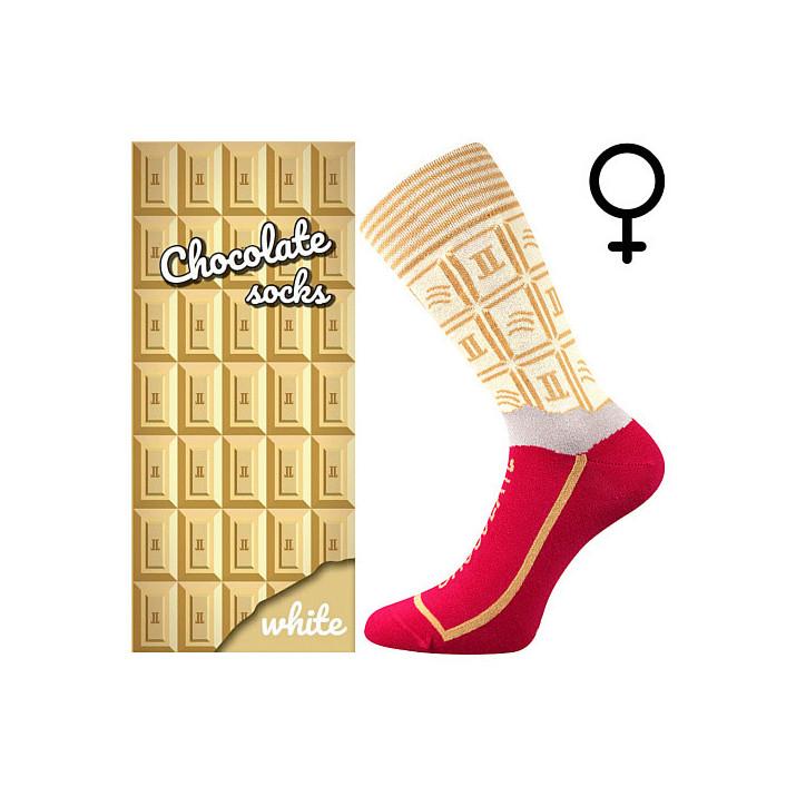 Barevné ponožky čokoláda bíla