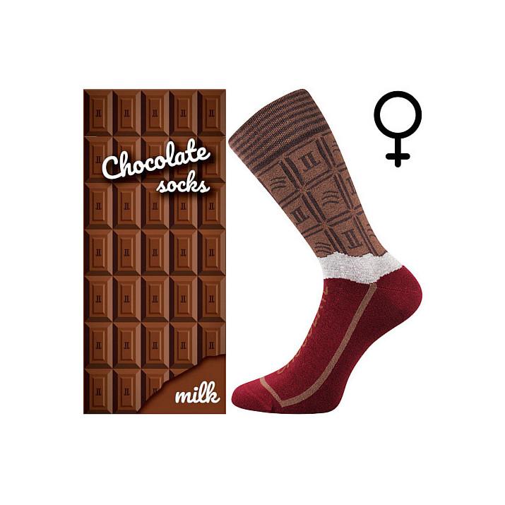 Barevné ponožky čokoláda milk