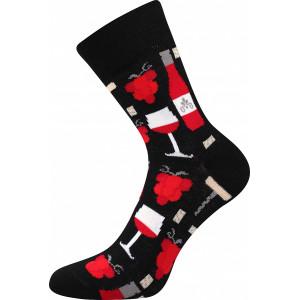 Barevné ponožky Víno červené