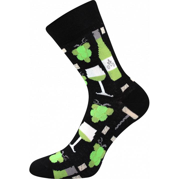 Barevné ponožky Víno bílé