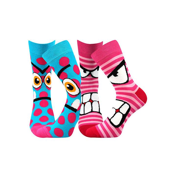 Barevné ponožky Ksichtík B...