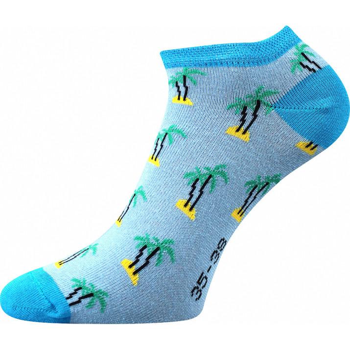 Barevné ponožky palmy kotník