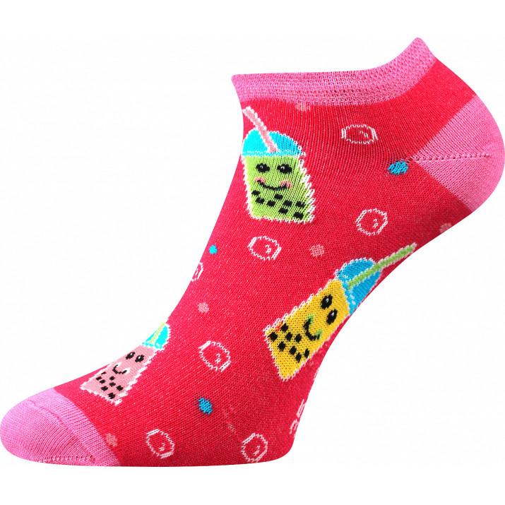 Barevné ponožky pití kotník