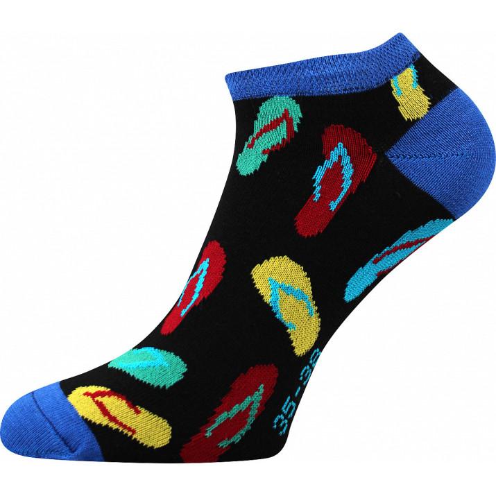 Barevné ponožky žabky kotník